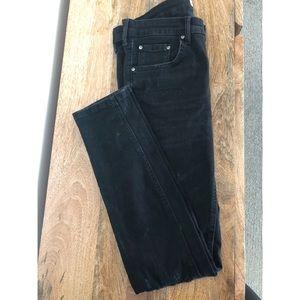 NWT Zara Premium Black Skinny Distressed Jeans